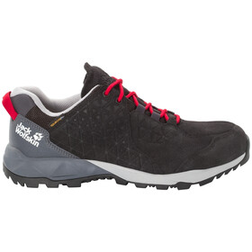 Jack Wolfskin Cascade Hike LT Texapore Chaussures à tige basse Homme, black/red